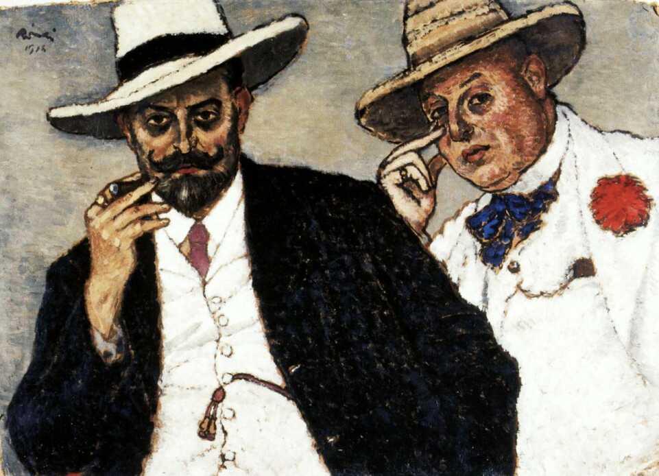 Rippl-Rónai József: Testvéreim (1918)